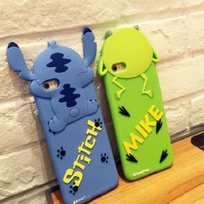 iPhone 7 Case, Lovely 3D Japan Cartoon Soft Silicone Cover