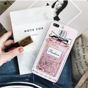 iPhone 7 Case, Perfume Liquid Luxury Bling Glitter Protective Case