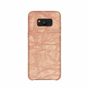 Galaxy S8 Case, Stone Pattern PU Leather Phone Case ~ Rose