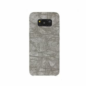 Galaxy S8 Case, Stone Pattern PU Leather Phone Case ~ Grey