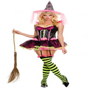 Sexy Witch Cosplay Costume Dress For Adults Halloween Costume