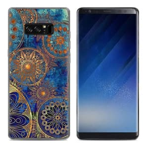 National Gold Pattern Tpu Phone Case for Galaxy Note 8