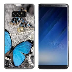 Blue Butterfly Tpu Phone Case for Galaxy Note 8