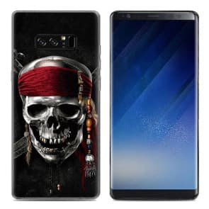 Skeleton Pirates Tpu Phone Case for Galaxy Note 8