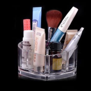 Cosmetic Heart Shape Skincare Organize Performance Case