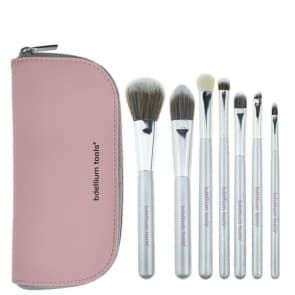 Pink Artificial Fiber 7pcs Makeup Brush with Case