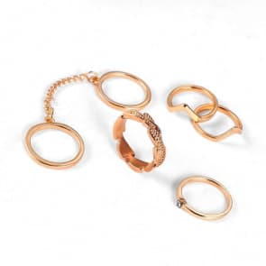 Fashion Gold Ring Six Pieces Sets