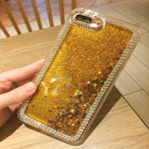 iPhone 6 Plus Case, Liquid Floating Luxury Bling Glitter Sparkle with Rhinestone