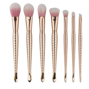 Glynis 7pieces set Rose Gold Beauty Mermaid Makeup Brush Set