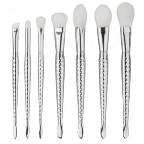 Hilary 7pieces set Silver Mermaid Beauty Makeup Brush Set