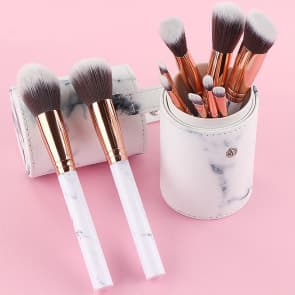 Coco 10pieces set Marble Beauty Makeup Brush Set & Pouch