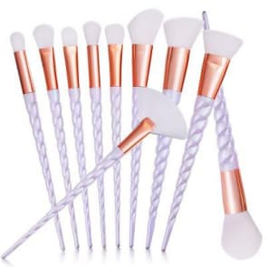 Evaline 10pieces set Unicorn Beauty Makeup Brush Set