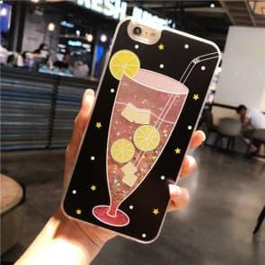 iPhone 7 8 Case, Ice Lemon Tea Liquid Sparkle Bling Protective Case