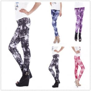 Lightning Printed Knitted Spandex Jersey Leggings
