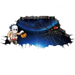 Halloween Spider 3D Wall & Floor Sticker Decorations
