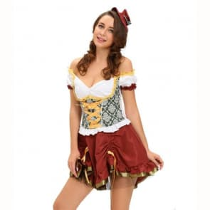 Sexy Off Shoulder Beer Garden Girl Costume
