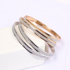 Rhinestone Double Floral Rose Gold Bracelet Jewelry