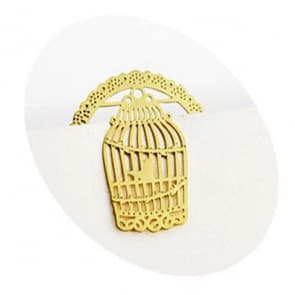 Golden Birdcage Bookmark