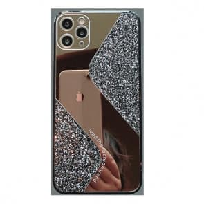 iPhone Luxury Diamond Mirror Phone Case Black 2