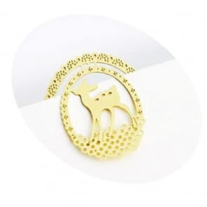 Golden X'mas Deer Bookmark