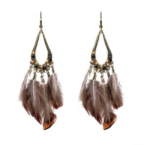 Vintage Feather Earrings