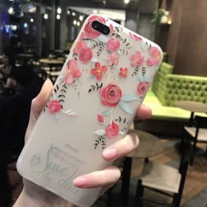iPhone 7 case, Rose Flowers with Soft TPU Scratch Resistant Case