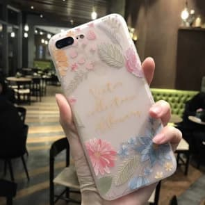 iPhone 7 case, Summer Flowers with Soft TPU Scratch Resistant Case