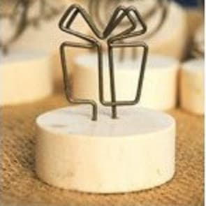 Gift Shape Wood Round Clip Stand