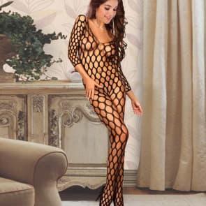 Ebony Big Mesh Plus Size Bodystocking Sexy Lingerie