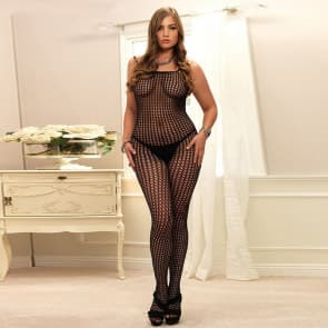 Immy Lace with Mesh Plus Size Bodystocking Sexy Lingerie