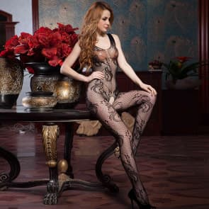 Dacey Mesh Plus Size Bodystocking Sexy Lingerie