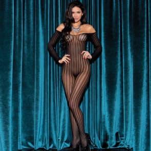 Alayna Stripe Pattern Lace Sexy Lingerie