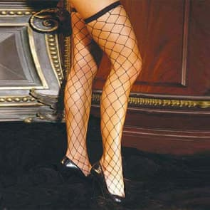Alisa Fishnet Lace Top Knee Socks Stockings
