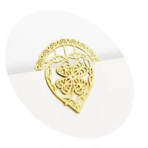 Golden Heart Shape Bookmark