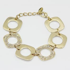 Fashion goldtone glittery bracelet