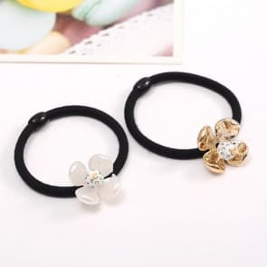 Rhinestone Floral Elastic Hair Band Scrunchie