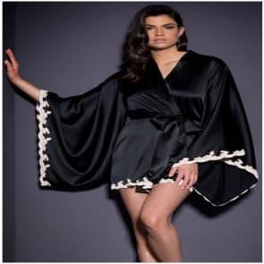 Chenille Satin Robe Sleepwear Lingerie