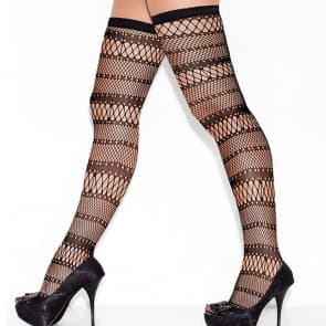 Amara Mesh Lace Top Knee Socks Stockings