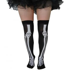 Xia Bone Printed Top Knee Socks Stockings