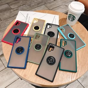 Note 10 Dull Polished Phone Case With Ring Holder Color