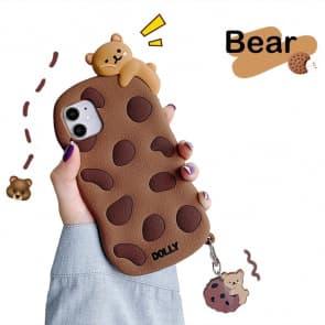 iPhone 11 Cookies Bear 3D Phone Case