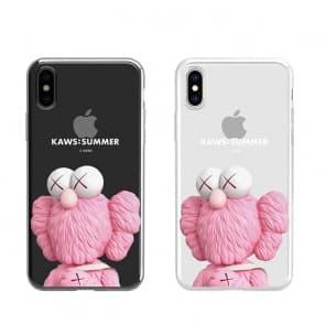 iPhone Kaws Sesame Street Transparent Phone Case