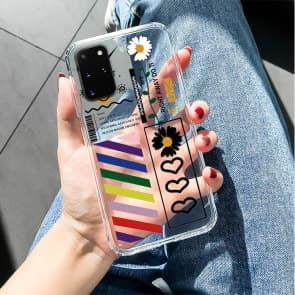 Samsung S9 / S10 / S20 Series Cute Flower Transparent Phone Case