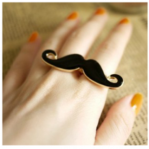 Chic Mustache Ring