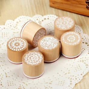 Floral Wood Round Stamps