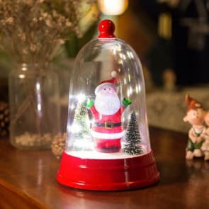 Christmas Bell Santa Claus Music Box With Light Decorations Gift for Christmas