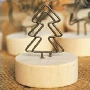Christmas Tree Shape Wood Round Clip Stand