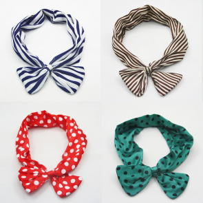 Polka Dot Twist Headband Scarf