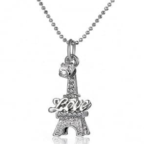 Eiffel Tower Rhinestones Necklaces
