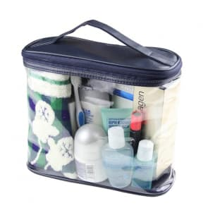 PVC Clear Travel Transparent Tolletries Cosmetics Organizer Bag